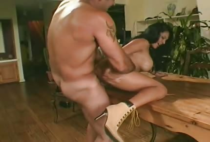High heels and sex on the table