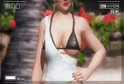 Cudowna modelka na plaży w bikini