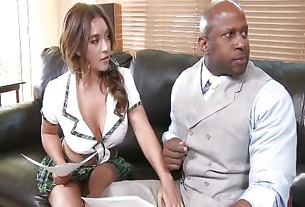 School girl taking some black cock