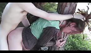 Leśny seksik z wyśmienitą babeczką