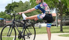 Masaż po jeździe na rowerze