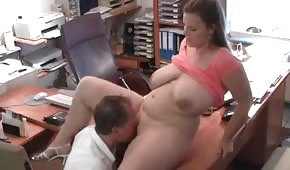 He's fucking curvy chick in the office