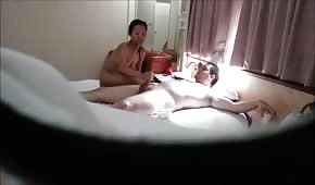 She's taking care of his cock