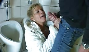 Creampie in the toilet