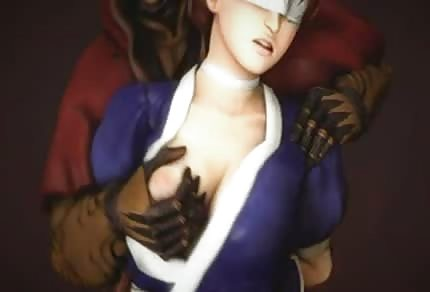 Ninja ugniata jej boskie piersi