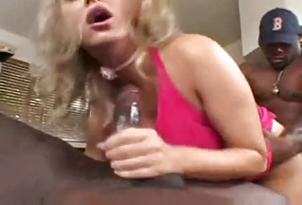 Mandy Bright is being fucked by two black men