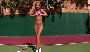 Skinny tennis player