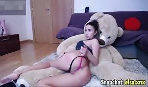 Seksowna cycatka na sex kamerce
