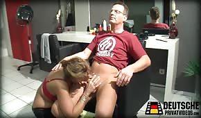 Seks z niemiecką fryzjerką