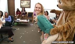 Misiek robi striptiz w biurze