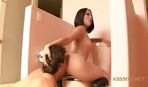 Ostre porno w toalecie