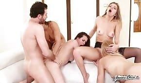 Grupowe porno z seksownymi paniami